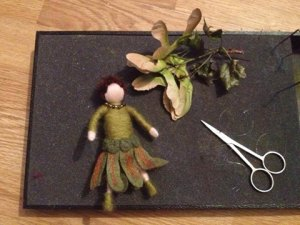 Felted faeries inspired by nature